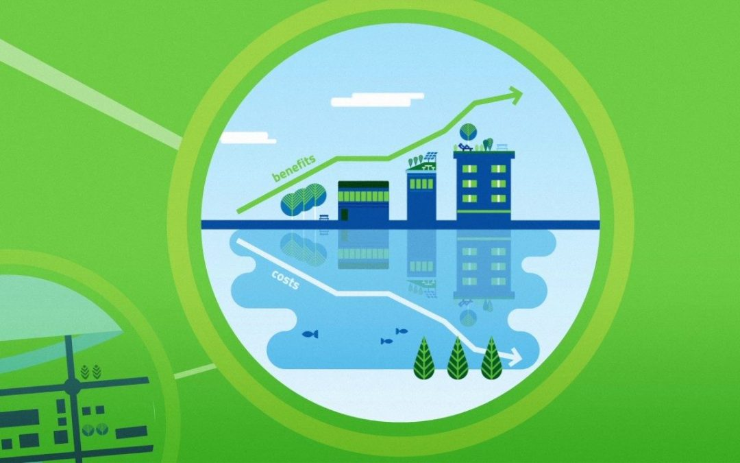 cooling system with a complete combo of green solutions